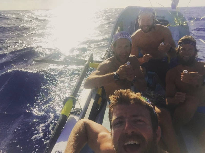 The Four Oarsmen maintain the lead in the Atlantic Challenge