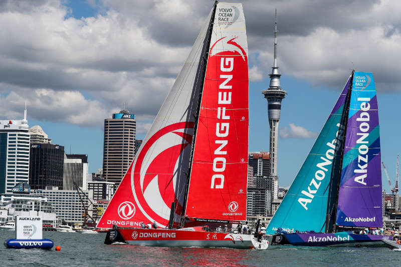 Dongfeng win challenging New Zealand Herald In Port Race