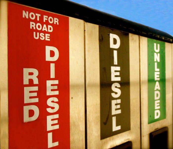 red diesel pumps