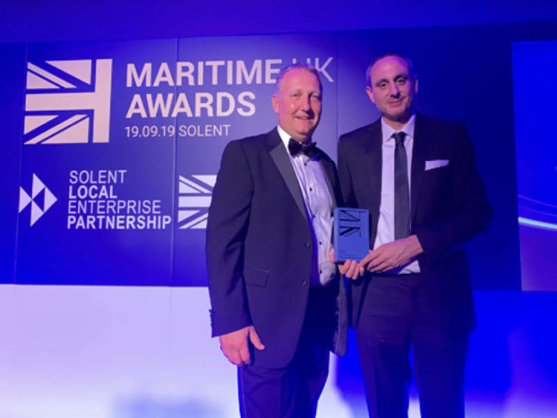 The Shakespeare® Marine team receive their Innovation Award at the Maritime UK Awards 2019.