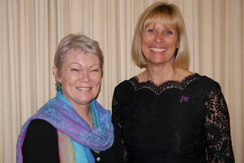 Tracy Edwards MBE with Royal Southern Yacht Club Commodore Karen Henderson-Williams. (Photo: Graham Nixon)
