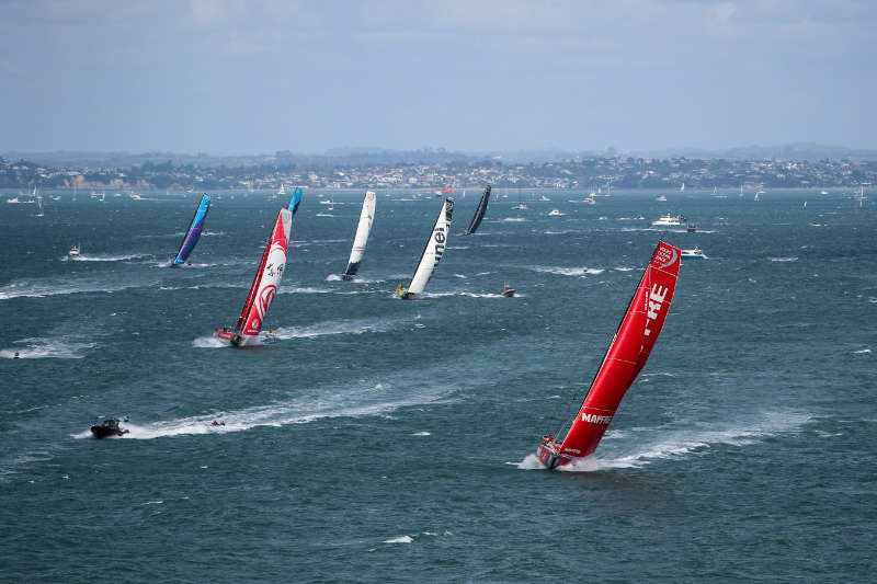 MAPFRE leads the Volvo Ocean Race fleet to start epic Southern Ocean leg