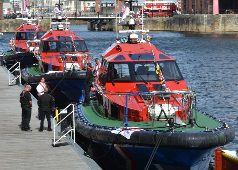 Boat builders celebrate unveiling of three ground-breaking pilot boats