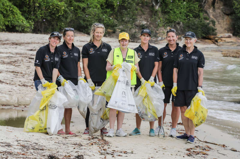 Team Ocean Respect Racing Addresses Marine Debris Issue In Sydney Harbour