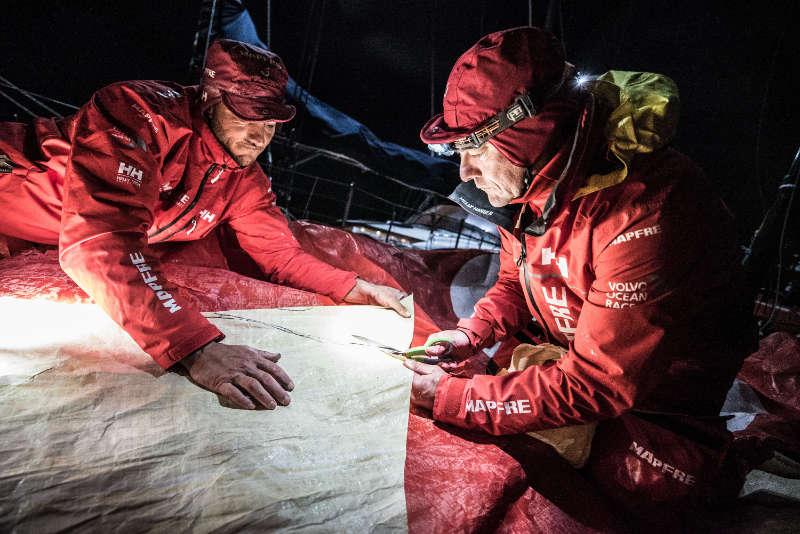 MAPFRE chasing fleet towards Falkland Islands - Volvo Ocean Race