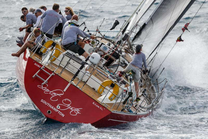 Winners of the Peters & May Round Antigua Race - Ross Applebey's Oyster 48