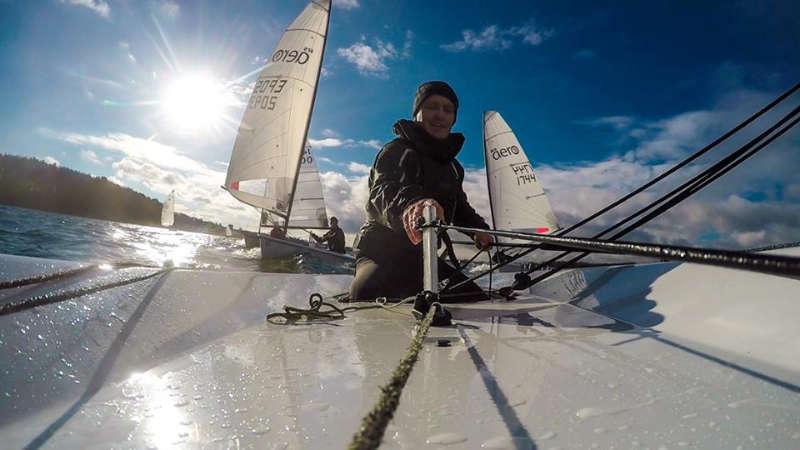 RS Aero sailing at Northampton