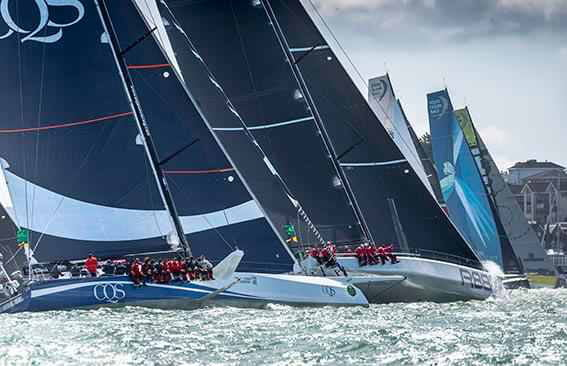 Magnificent conditions for the start of the 2017 Rolex Fastnet Race © Rolex/Carlo Borlenghi