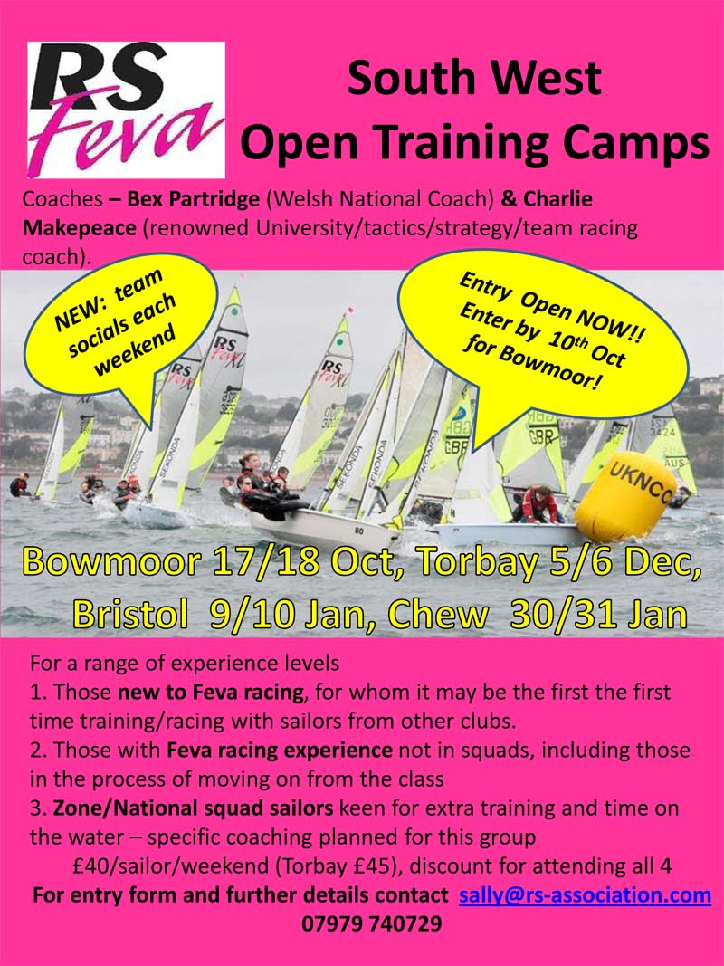 RS Feva SW Open Training – Entry Now Open