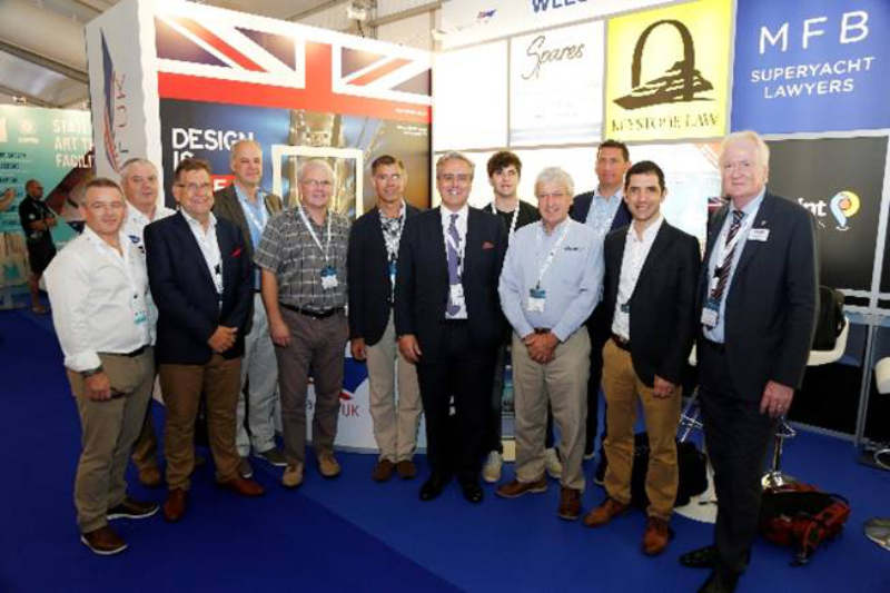 Current future confidence from UK superyacht companies buoyed by Government visit