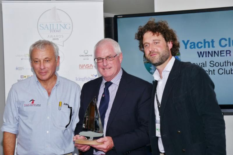 The Royal Southern Yacht Club wins the Sailing Today  'Yacht Club of the Year' Award 2015