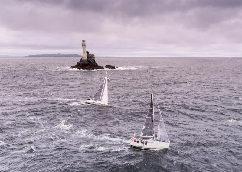 Zarafa and Inspire at the Fastnet Rock © Rolex/Kurt Arrigo