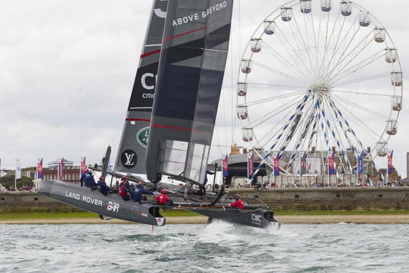 America's Cup teams sailing on the Solent for the first time in 164 years