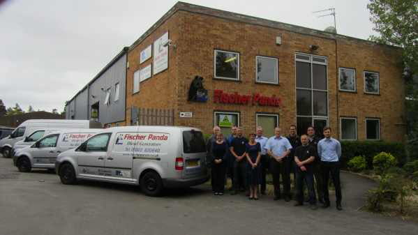 The Fischer Panda UK team at the company's facility in Verwood