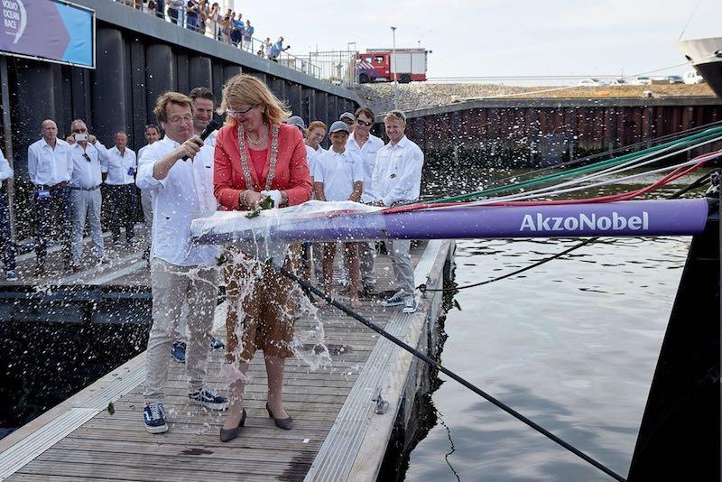 Volvo Ocean Race entry team AkzoNobel christens brand new ocean racing yacht