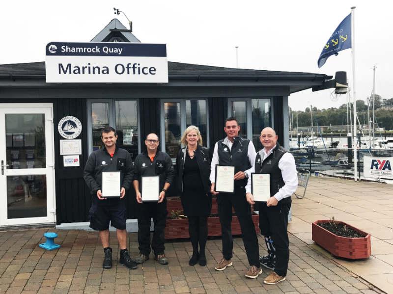 Staff at Shamrock Quay awarded with Royal Humane Society Awards
