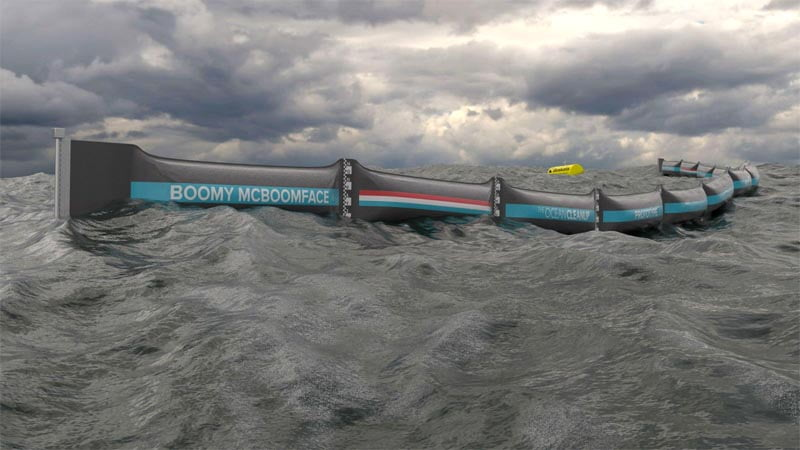 Ocean Cleanup Launches Boomy McBoomface