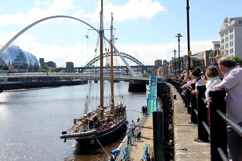 Veteran crew depart from Newcastle on their epic bid to sail around the UK coast