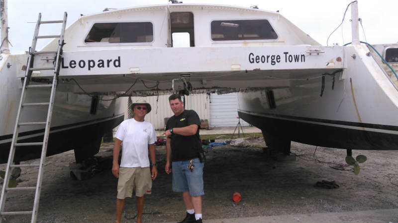Charles Nethersole (left) with Capt. Cody Catapano