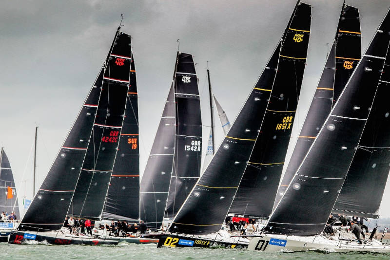 12 FAST40+ teams make up the largest Grand Prix class racing at Lendy Cowes Week. (Paul Wyeth/Lendy Cowes Week)