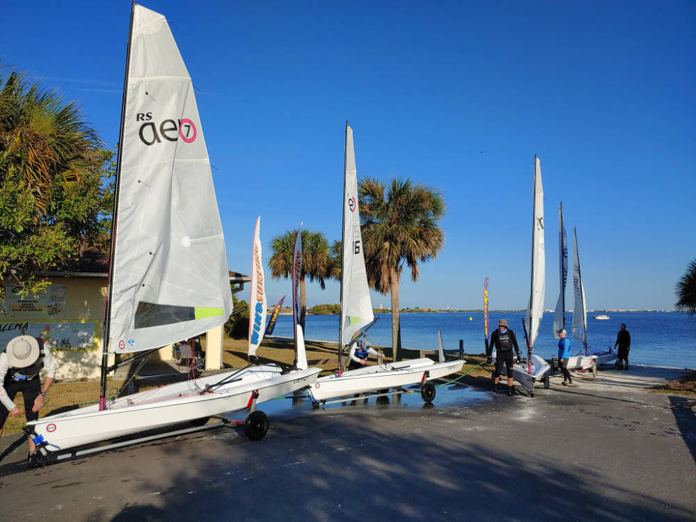RS Aeros at the Winter Fun Regatta - Florida January 2021